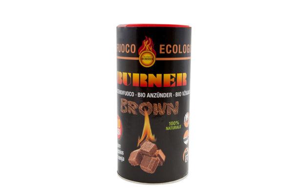Burner Firelighters Natural Brown Cubes fire starter 6 x 100 pcs barrel in one 600 firestarters package.