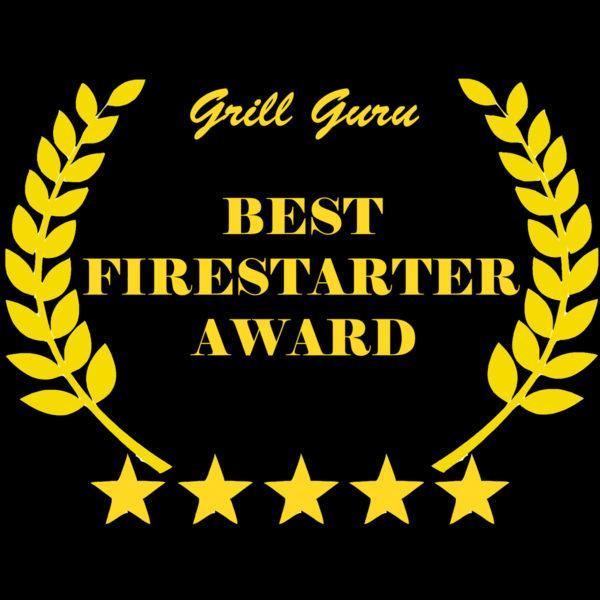 Original Burner Firelighters Bio oil fire starter awarded by Grill Guru with the Best Firestarter Award.